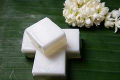 Gelatina tradizionale tailandese della noce di cocco immagini stock