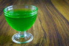 Gelatina verde Fotografia Stock