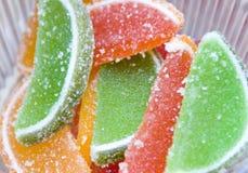 Gelatine di frutta di colore differente Immagine Stock