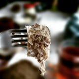 Gelatine pork. Artistic look in vintage vivid colours. Stock Photos