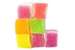 Gelatinizzi il dolce, la frutta di sapore, dessert della caramella variopinto Fotografia Stock