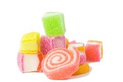 Gelatinizzi il dolce, la frutta di sapore, dessert della caramella variopinto Fotografia Stock Libera da Diritti