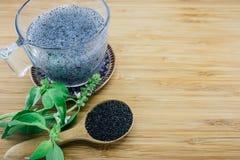 Gelatinous basil seeds Stock Photography