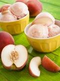 gelato桃子 免版税库存图片