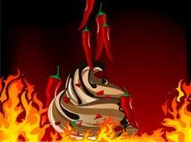 Gelato dei peperoncini rossi Fotografia Stock