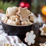 Gelato del biscotto del pan di zenzero Fotografie Stock