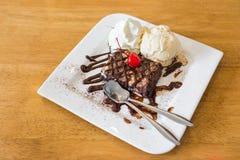 Gelato del brownie del cioccolato Fotografia Stock Libera da Diritti