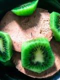 Gelato del cioccolato e del kiwi Fotografia Stock Libera da Diritti