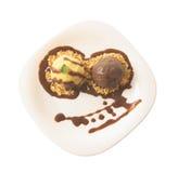 Gelato del cioccolato e della vaniglia Fotografie Stock
