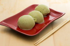 Gelato del tè verde Fotografia Stock