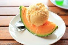 Gelato di estate del melone Fotografia Stock