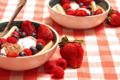 Gelato e dessert della frutta fotografie stock