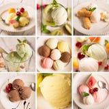 Gelato e frutta fotografia stock