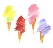 Gelato ice-cream hand drawn illustration. Stock Image