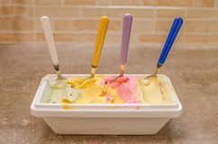Gelato italiano di gelato Fotografia Stock Libera da Diritti
