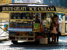 Gelato in Rome. Mobile Gelati Stand Rome, Italy Royalty Free Stock Image