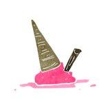 gelato rovesciato retro fumetto Immagine Stock Libera da Diritti