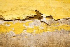 Gelb in Beschaffenheitswand-Afrika-Zusammenfassung Stockbild