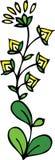 Gelb blüht Blumenauslegung Lizenzfreies Stockbild