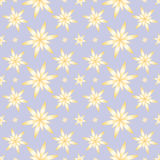 Gelb blüht nahtlosen Hintergrund Lizenzfreies Stockbild