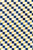 Gelb - blaues Muster Stockfoto