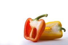 Gelb d'und de putréfaction de paprika Photographie stock
