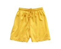 Gelb der kurzen Hosen Stockfoto