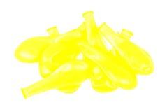 Gelb entlüftete Ballone auf dem lokalisierten Hintergrund Stockbild