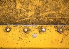 Gelb färben Sie Stahl Stockfotografie