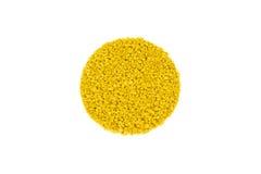 Gelb farbige Gummibodenbelagprobe Lizenzfreie Stockfotografie