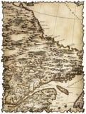 Gelb gefärbtes und beflecktes Stück der alten Karte stockfoto