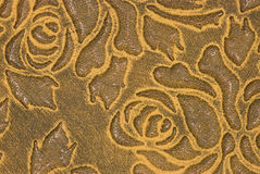 Gelb gekopiertes Leder Stockbild
