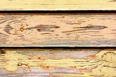 Gelb gemalte alte Wand Lizenzfreies Stockbild
