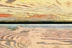 Gelb gemalte alte Wand Lizenzfreies Stockfoto