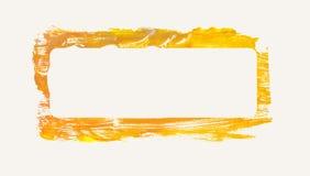 Gelb gemaltes Feld Stockbild