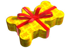 gelb geschenk miś pluszowy Fotografia Royalty Free