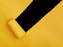 Gelb heftiges Papierfeld Stockfotos
