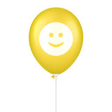 Gelb, Lächeln druckte Vektorballon Lizenzfreie Stockfotos
