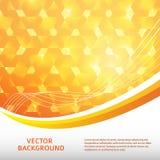 Gelb-Licht-glühen-Hintergrund-Broschüre-Plan Lizenzfreie Stockbilder