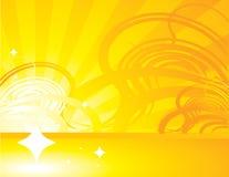 Gelb-orangeer abstrakter Strahlhintergrund 1 Stockfotografie