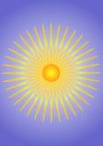 Gelb-orangeer Sonnehintergrund stock abbildung