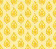 Gelb-orangeer Thailand-Musterhintergrund Lizenzfreies Stockfoto