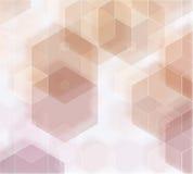 Gelb-orangees braunes abstraktes Hintergrundpolygon Stockbild