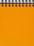 Gelb quadrierte Notizbuchblatt Lizenzfreie Stockfotos