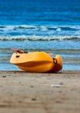 Gelb recue Boot - Rettungsboot Stockfotos