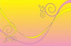 Gelb-rosafarbener Hintergrund Lizenzfreies Stockfoto