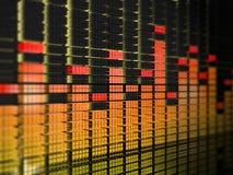 Gelb-roter Entzerrer Lizenzfreies Stockfoto