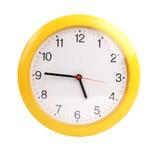 Gelb, rund um die Uhr auf einem weißen Hintergrund lizenzfreie stockbilder