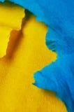 Gelb und Blau Stockfoto