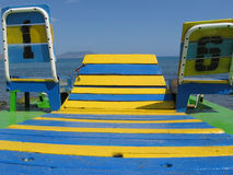 Gelb und Blau Lizenzfreie Stockbilder